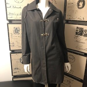 Hilary Radley Brown Trench Fall Jacket with hood